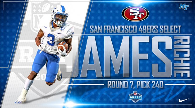 Richie James taken in 7th round by the San Francisco 49ers