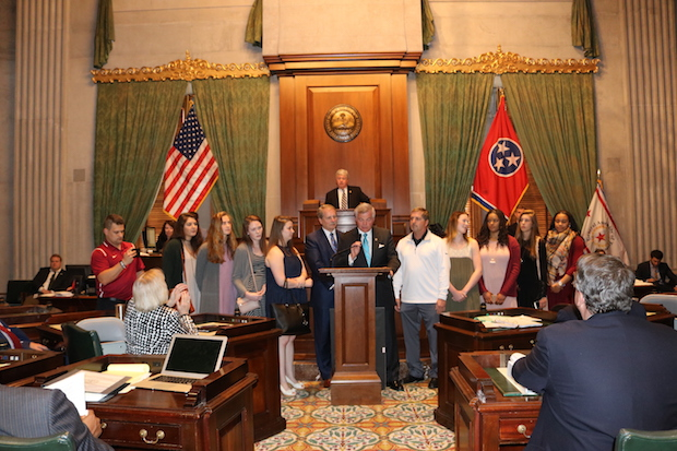 Riverdale Girls State & National Basketball Champions Honored in State Senate