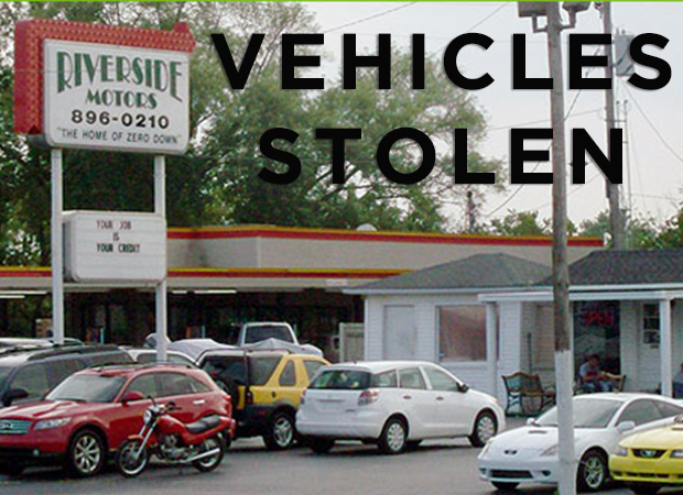 Four Vehicles Stolen from Riverside Motors