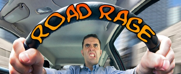 Road rage or just bizarre showing of a handgun?