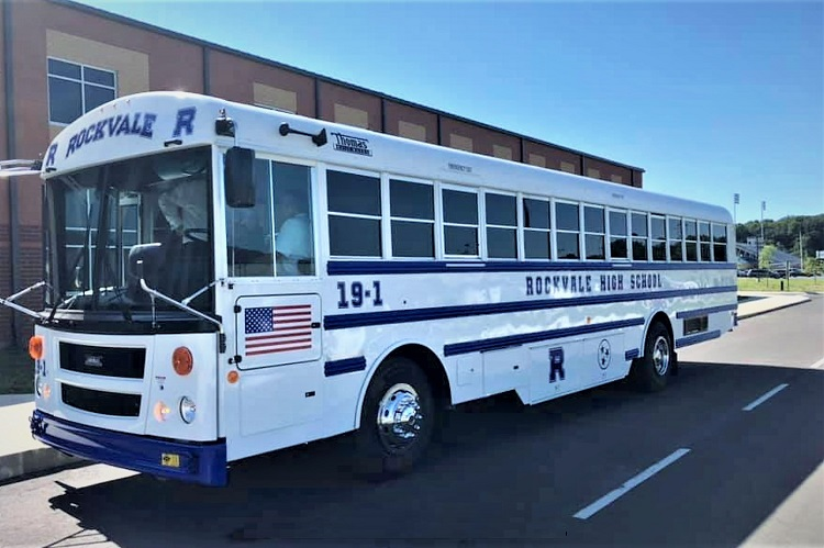 Rocket Bus Pulls Into Rockvale High
