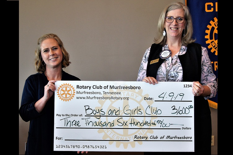 Nearing 100--Murfreesboro Rotary Still Helps Others! | H3ARC, Rotary, Murfreesboro, Boys and Girls Club, grant, WGNS