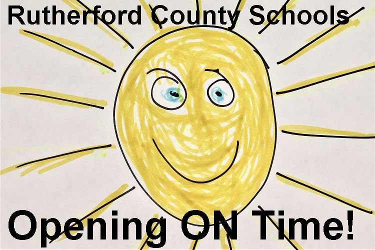 Rutherford County Schools OPEN Tuesday! | Rutherford County Schools, open on-time, Tuesday, WGNS