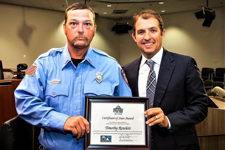 MFRD's Tim Rowlett Named August STARS Recipient | Murfreesboro Fire Rescue Department, Tim Rowlett, STARS recipient, August, WGNS