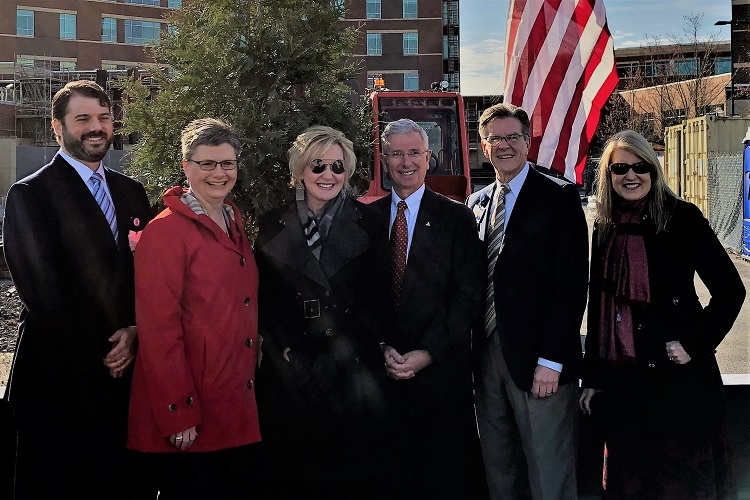 Saint Thomas Rutherford hosted a topping out ceremony