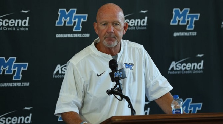 MT FB hosts Charlotte (Football Press Conference)