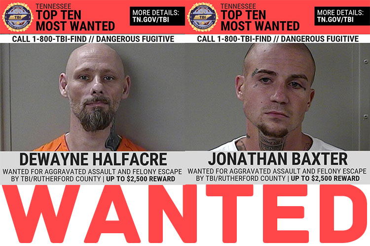 Local Escapees Added to TBI's Top 10 Most Wanted