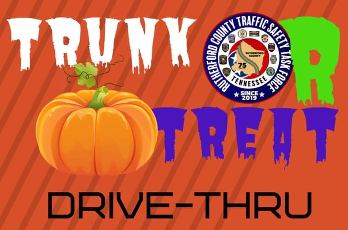 TRUNK OR TREAT 6-7PM TONIGHT