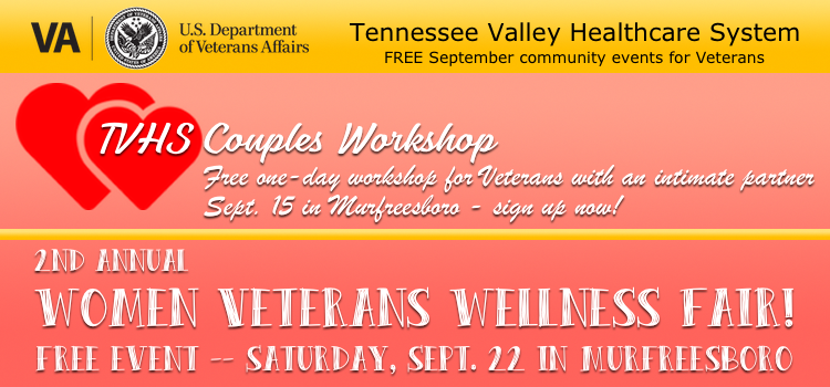 Upcoming VA Workshops in Murfreesboro, TN | womens workshop,workshop,wellness,VA, Veterans, couples, counseling, partners, vet