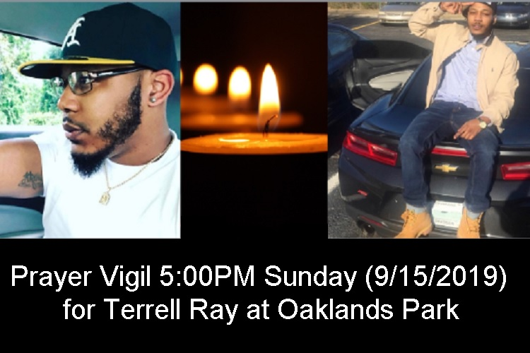 Prayer Vigil For Terrell Ray 5PM This Sunday