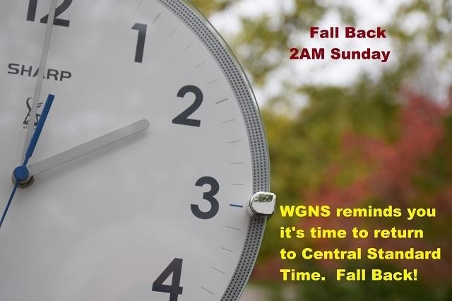 Set Your Clock BACK 1-HOUR This Weekend