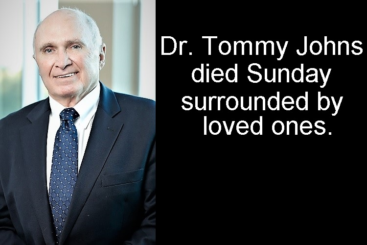 Local Sports Medicine Icon Dr. Tommy Johns Dies
