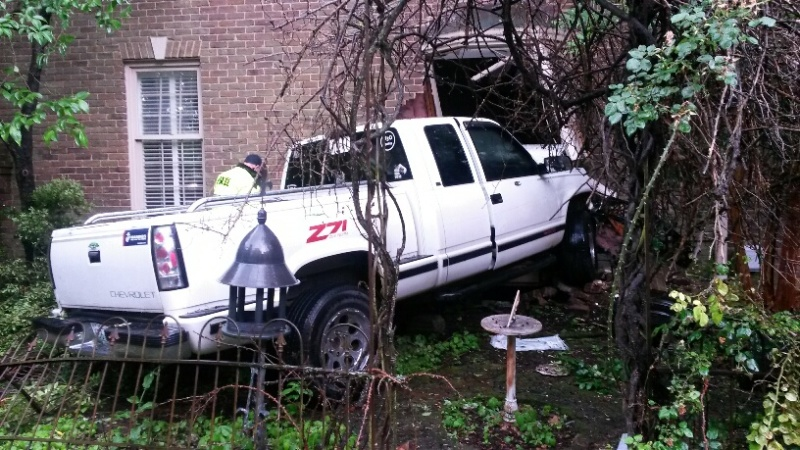Car Crashes Inside SE Broad Home