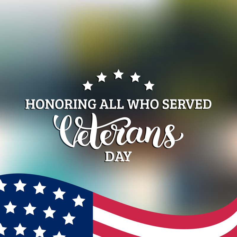 City offices and facilities closing in recognition of Veterans Day Nov. 10