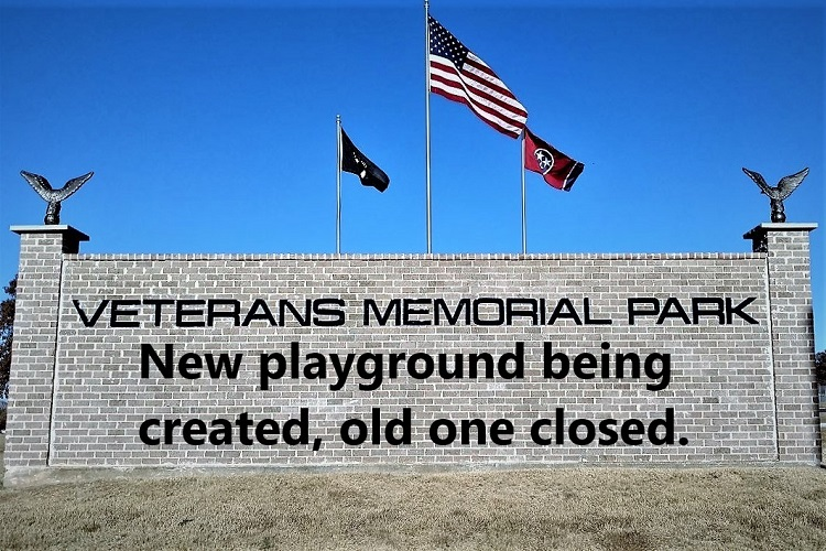 2020 brings a new playground to Veterans Memorial Park in La Vergne. The facility will be closed for several weeks as renovations take place.