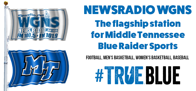 Blue Raiders, NewsRadio WGNS Enter New Relationship