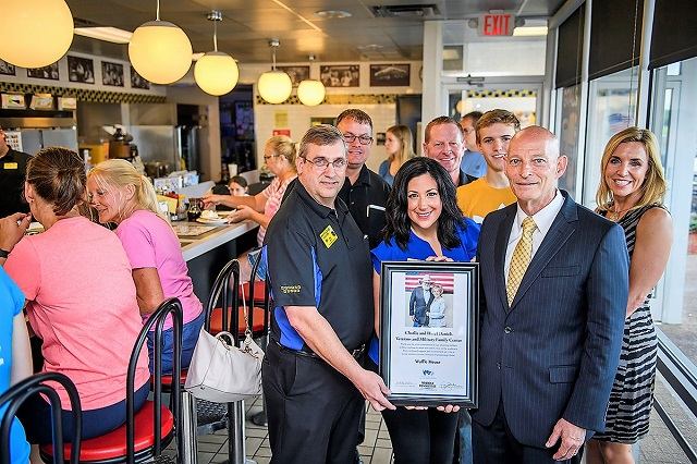 Charlie and Hazel Daniels Veterans and Military Family Center thanks the Waffle House