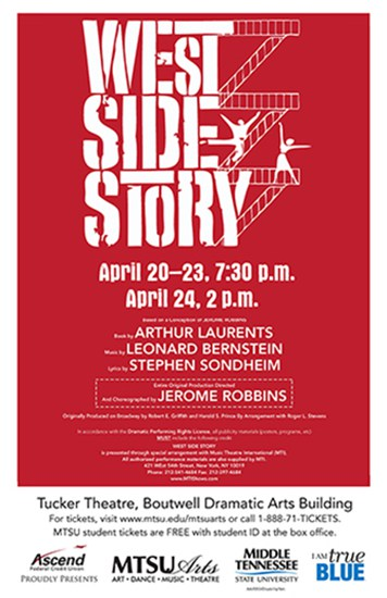 MTSU delivers spectacular performance of 'West Side Story' to Tucker Theater this week
