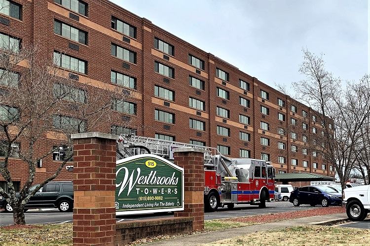 Monday Morning Construction Fire At Westbrooks Towers