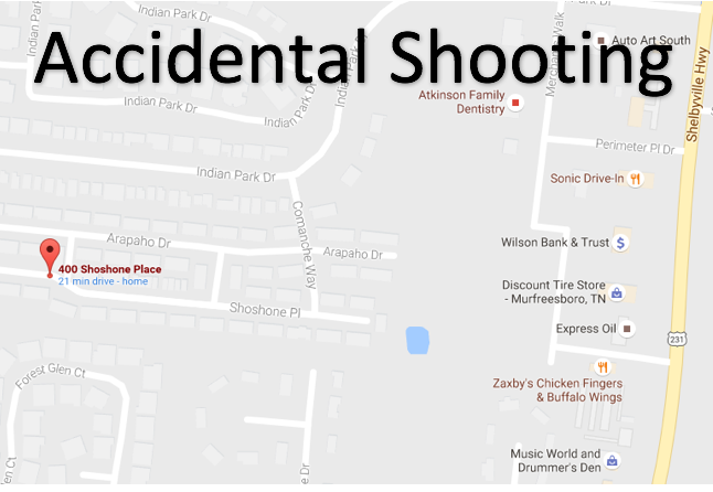 Accidental Shooting on Shoshone Place