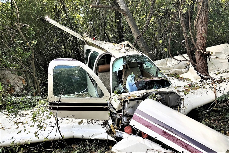 Single Engine Plane Stalls On Take-Off, Falls Into Treeline
