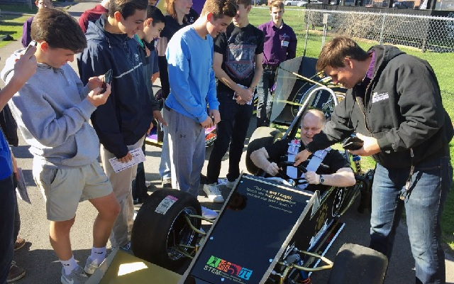 CMS Students Get Racing Car For Study