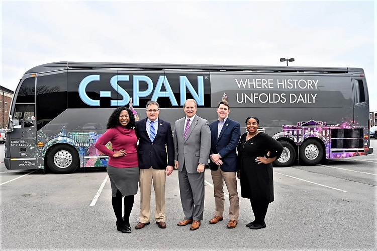 C-SPAN Bus Awed Visitors At Its MTSU Stop
