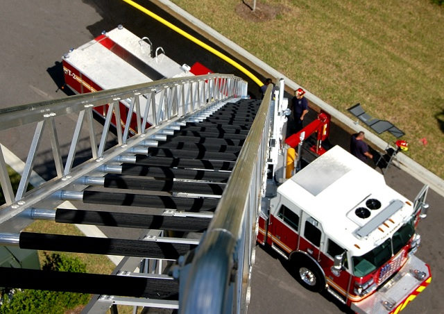 New 100' Aerial Fire Unit and Old Steam Engine Unveiled