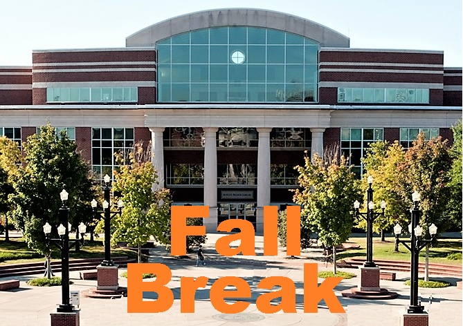 It's FALL BREAK at MTSU