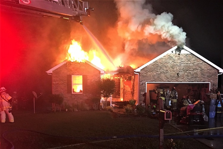 Saturday Morning Blaze Destroys 1319 Dodd Trail Home