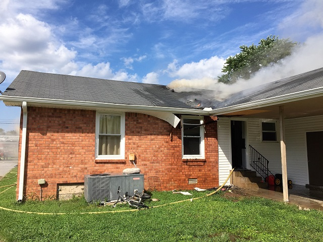 Friday Afternoon House Fire On Bradyville Pike