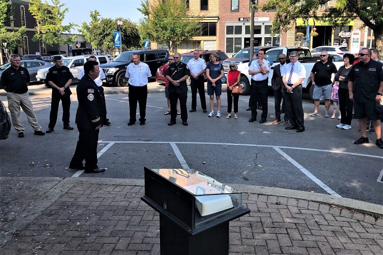 Firefighters Honor 9/11 Fallen Heroes On Square