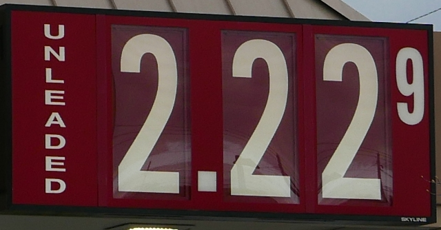 Gas Prices Jump: $2.22 at some discounters.
