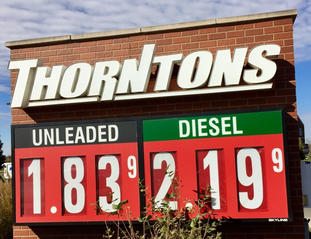 Thankful Gas Prices Lower For Thanksgiving Travel