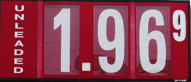 Cheapest Gas This Year--$1.96