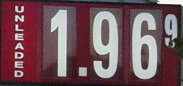 Gas Drops A Penny...$1.96