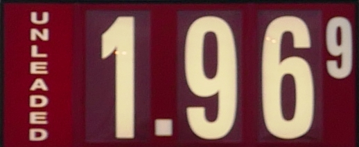 'Boro Gas Prices Unchanged: $1.96