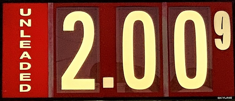 Gas Prices Slip Slightly Lower--$2.00/gallon