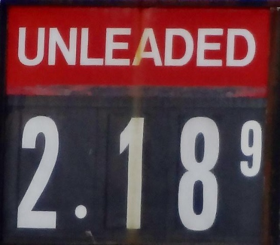 Gas Spikes, Plateaus Around $2.18