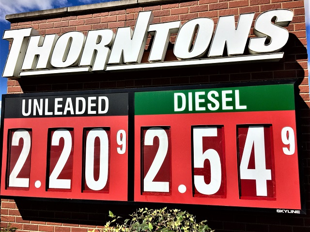 'Boro Gas Prices Start Week At $2.20