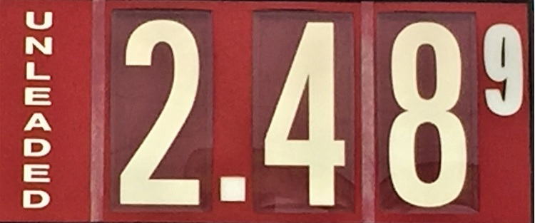 Gas UP A Nickle In Murfreesboro