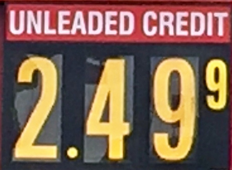 New Month: 'Boro Gas $2.49 Per Gallon