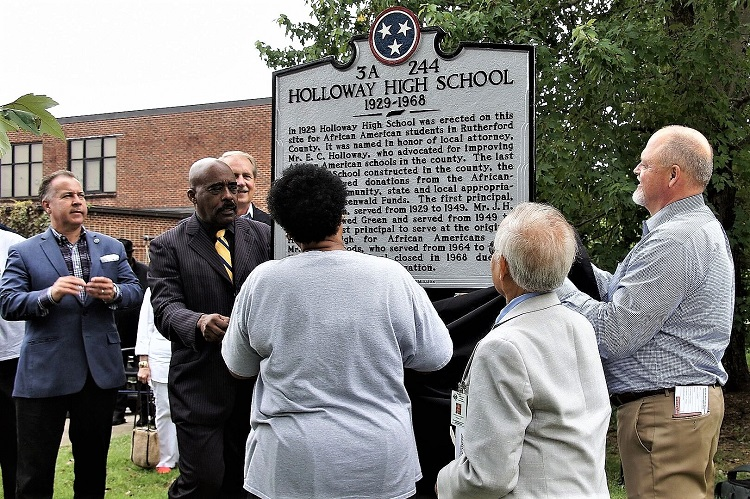 Historic Marker Unveiled at Holloway High School