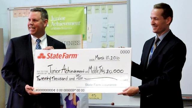 State Farm Insurance Makes $20K Gift To JA