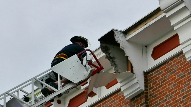 MFRD Downs Storm Damaged Roof Sections