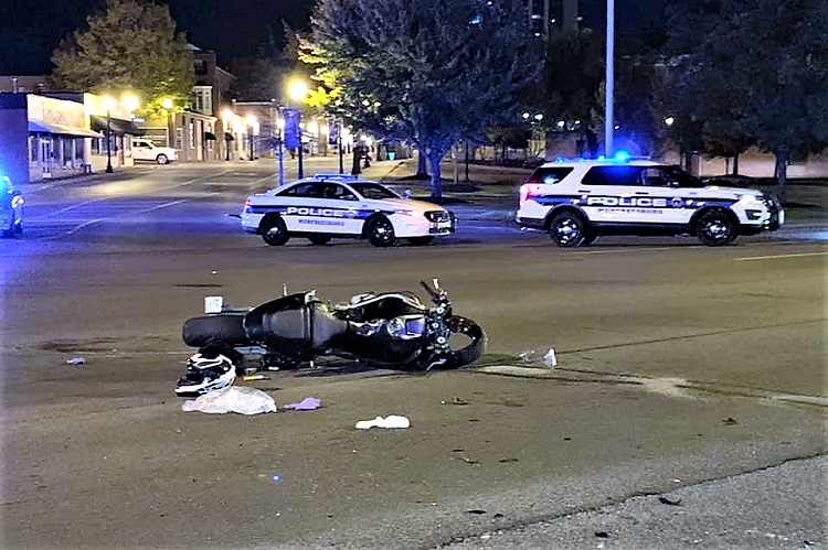 Early Thursday AM SUV vs Motorcycle Crash Downtown