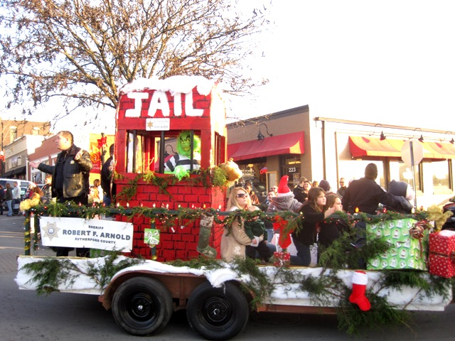 Christmas Homecoming Float.2012 Rutherford County Christmas Parade Murfreesboro
