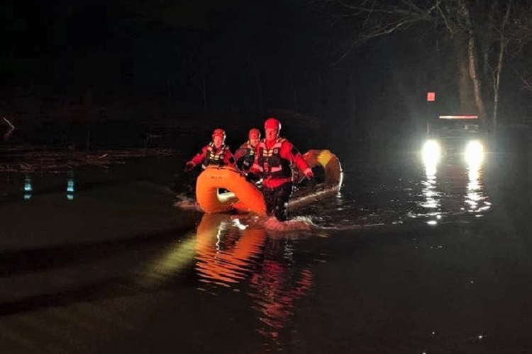 On Sunday evening, Rutherford County Fire Rescue responded to a Water Rescue at the intersection of Paw Paw Springs Rd and Independent Hill Road.