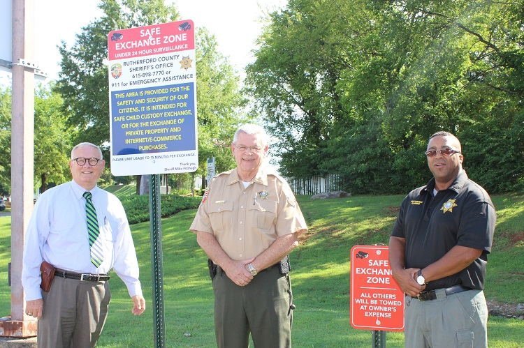 RCSO Safe Exchange Zone in Operation