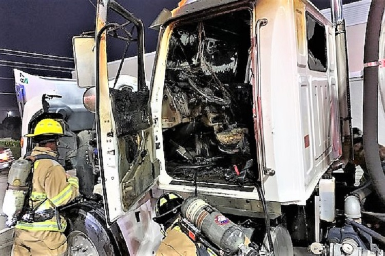 Big Rig Catches Fire Wednesday Morning In Smyrna